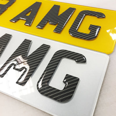 Legal Domed Gel Carbon Number Plates