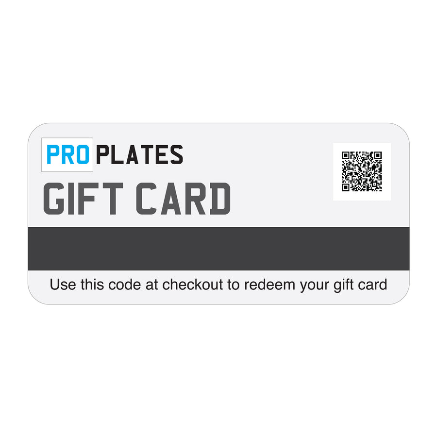 Number Plates Gift Card
