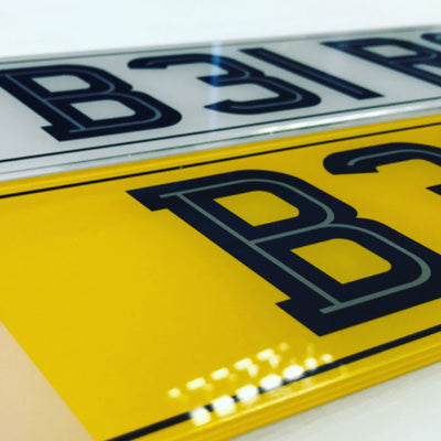 Set of Road Legal Number Plates