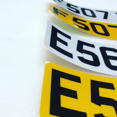 Self Adhesive Stick On custom size Number Plates