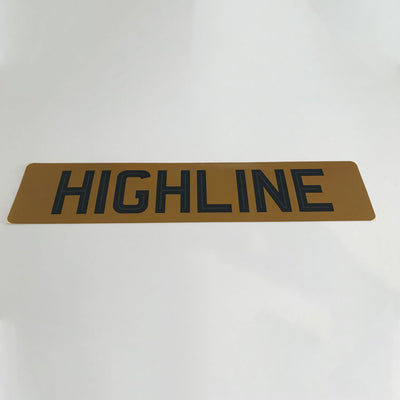 Self Adhesive tinted number plate