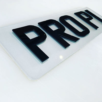 Small 4D Number Plates - 330 x 111