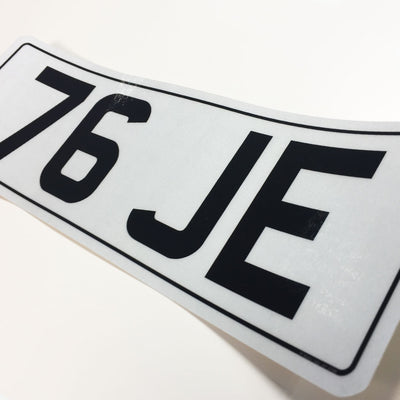 Small stick on number plates 330 x 111
