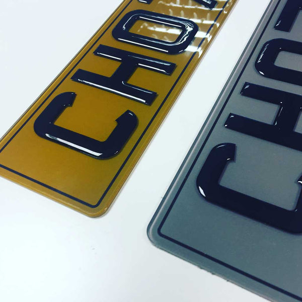 Tinted Gel 3d Number Plates 3d Number Plates Pro Plates