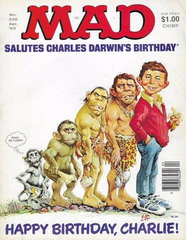 MAD Charles Darwin's Birthday Cover