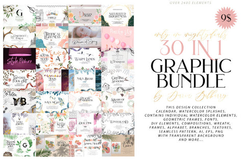 Migthy Deals 30 in 1 Graphic Bundle