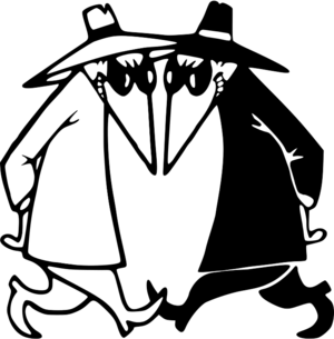 MAD's Spy vs Spy or Good Guy vs Bad Guy