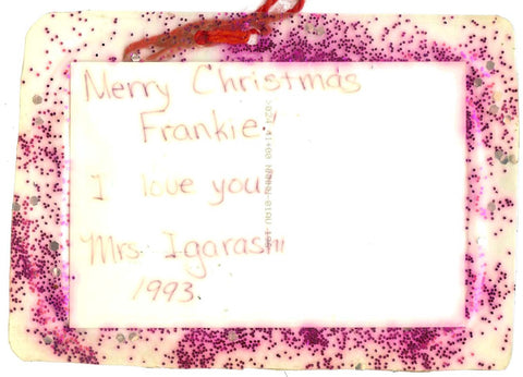 Christmas Card from Ms. Igarashi 1993 back