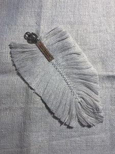 Macramé Feather Key Ring Large Accessories