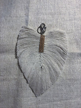 Load image into Gallery viewer, Macramé Feather Key Ring Medium Accessories
