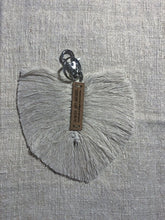 Load image into Gallery viewer, Macramé Feather Key Ring Small Accessories