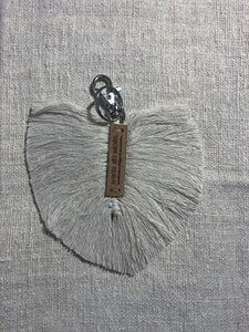 Macramé Feather Key Ring Small Accessories