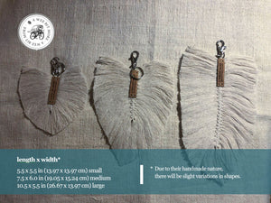 Macramé Feather Key Ring Accessories