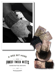 Fingerless Mitts – Forest Tweed Vegan Mitts