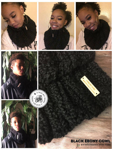 Black Ebony Cowl/Scarf