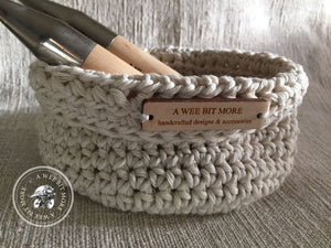Basket Storage Vegan Ecru Basket  – The Montauk Collection