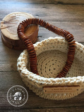 Load image into Gallery viewer, Basket Storage Vegan Ecru Basket  – The Montauk Collection