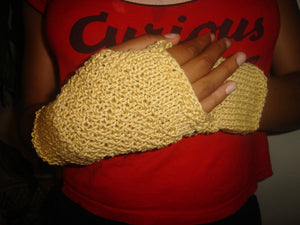 Fingerless Mittens – Double Moss