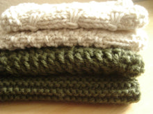 Load image into Gallery viewer, Knit Washcloths, Set of 7