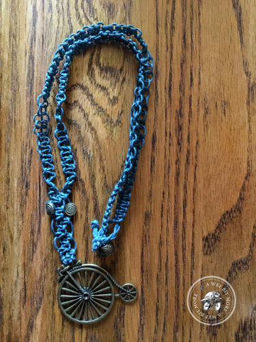 Bicycle Macrame Necklace