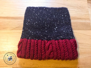 Knit Tweed Hat – Cables & Twists