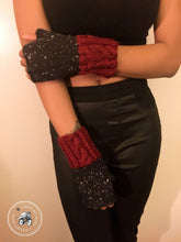 Load image into Gallery viewer, Fingerless Mitts – Knit Tweed, Cables & Twists