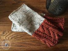 Load image into Gallery viewer, PATTERN Rusty Wheat Fingerless Mitts, Vegan