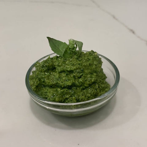 Pesto ready for serving