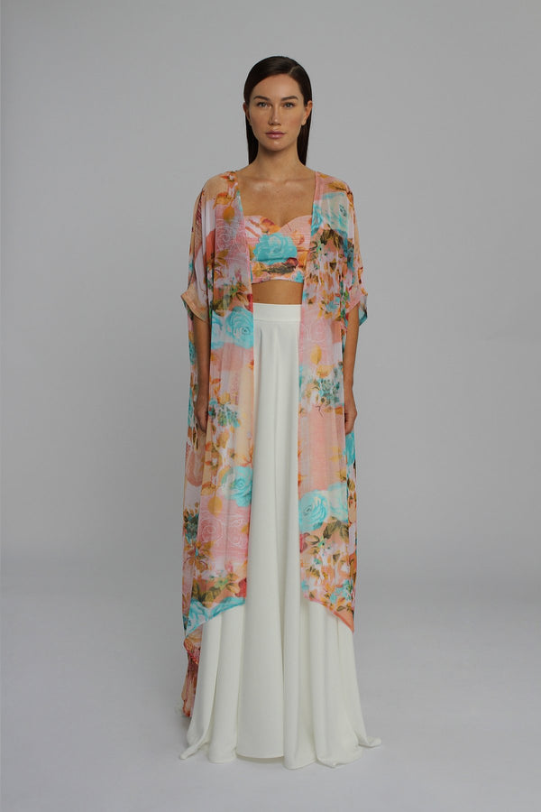 Turquoise and Pastel Cape