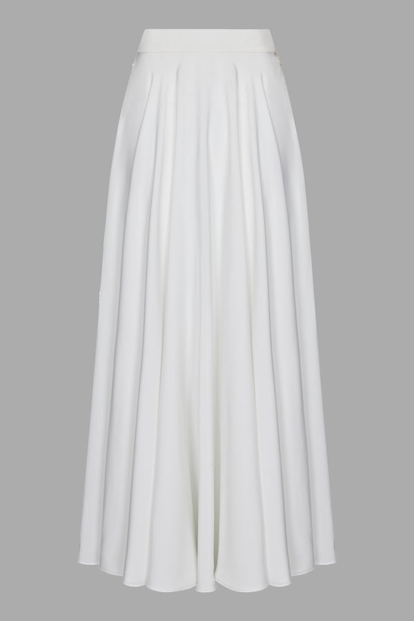Classic White Evening Skirt