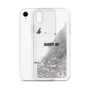 "EXCLUSIVE ""WAVY AF"" LIQUID GLITTER iPHONE CASE 🌊🌊"