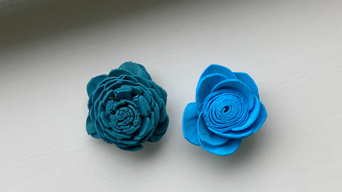 Blue flowers before sanitation