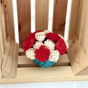 Small Berry Basket- Blue, Red & White