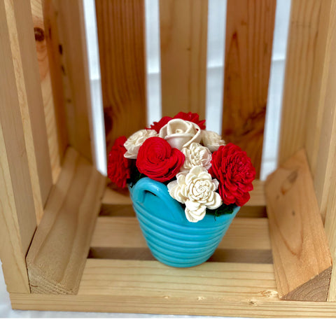 Laundry Basket- Red, White & Blue