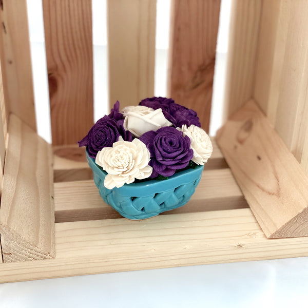 Small Berry Basket- Blue, Purple & White