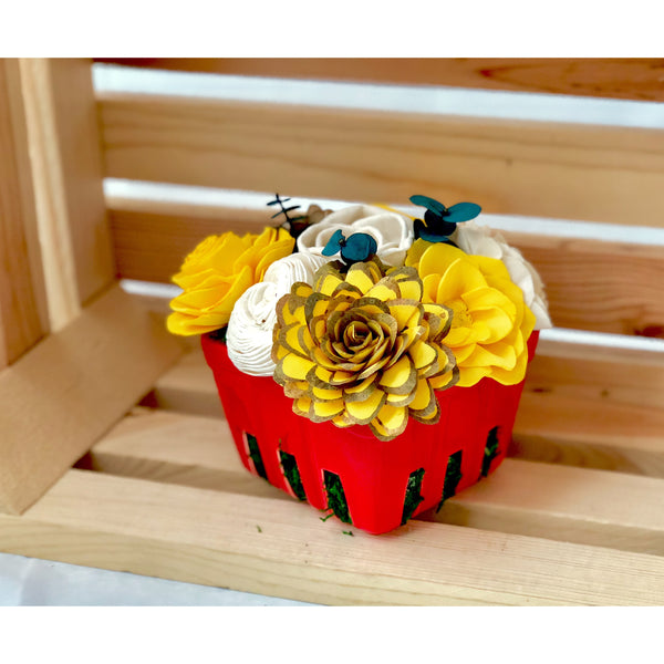 Large Berry Basket- Red & Yellow