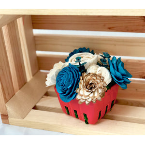 Large Berry Basket- Blue & Red