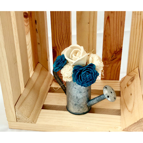 Watering Can Magnet- Blue & White