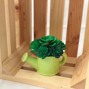 Watering Can- Green Succulents