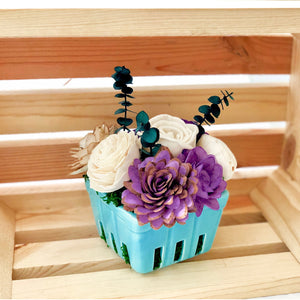 Large Berry Basket- Blue & Purple