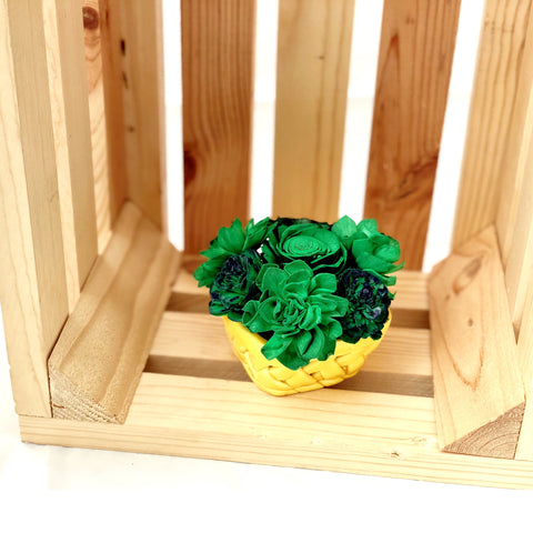 Small Berry Basket- Green & Yellow