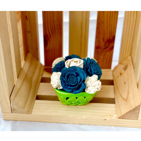 Small Berry Basket- Blue & Green