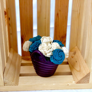 Laundry Basket- Purple, Blue & White