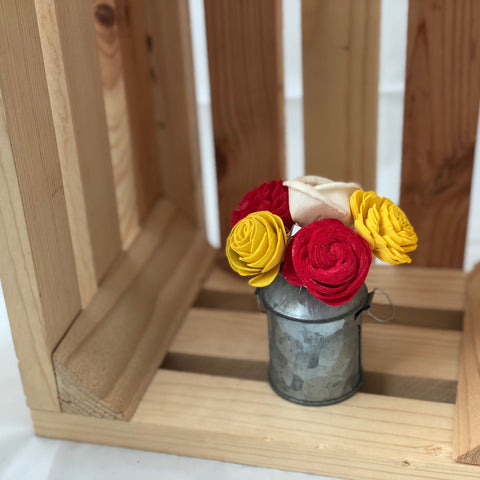 Small Milk Can Magnet- Red, Yellow & White