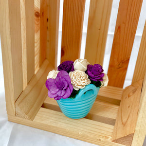 Laundry Basket- Blue, Purple & White
