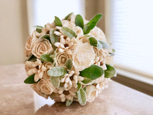 Two dozen natural bridal bouquet