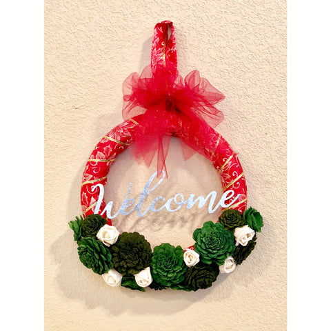 Christmas Welcome Wreath