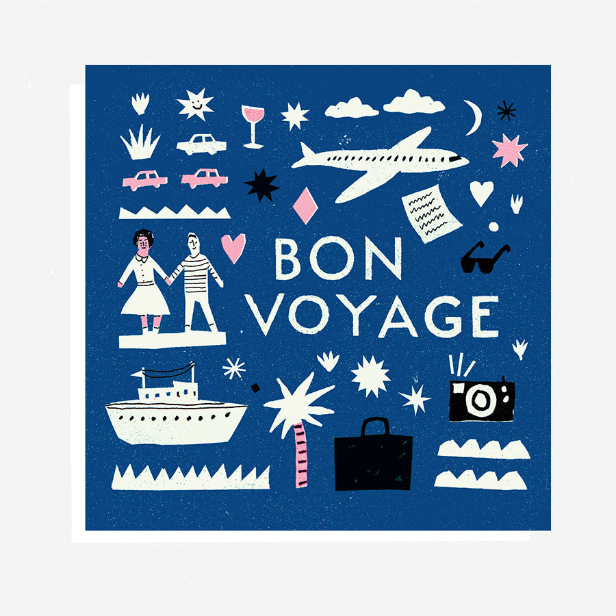 The Printed Peanut - Bon Voyage Gift Card by Louise Lockhart