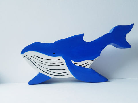 Handmade Wooden Hump Back Whale, Wooden Toys, Imaginative Play, Nature Table, Waldorf, Ocean Toys