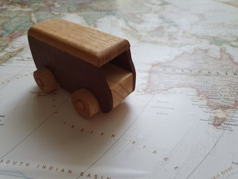 Hand Crafted Wooden Toy Kombi